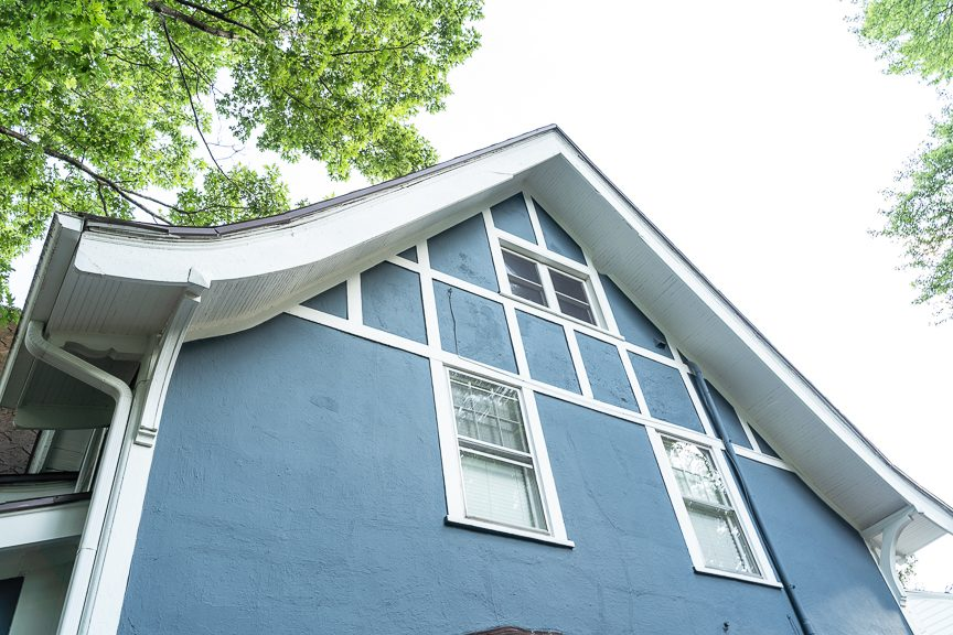 soffits and white trim on blue home Preview Image 6
