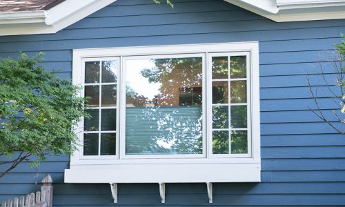 Window Trim and Siding Painted