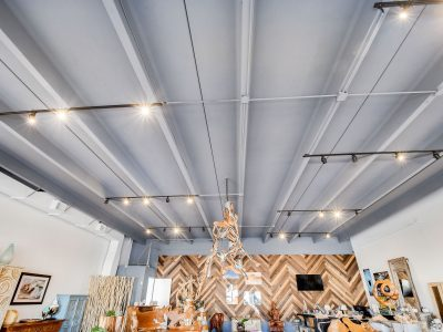 Commercial gallery ceiling and painted by CertaPro Painters of Jupiter, FL
