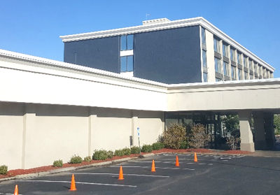 Exterior painted on Four Points Sheraton by CertaPro Painters of KC Northland, MO