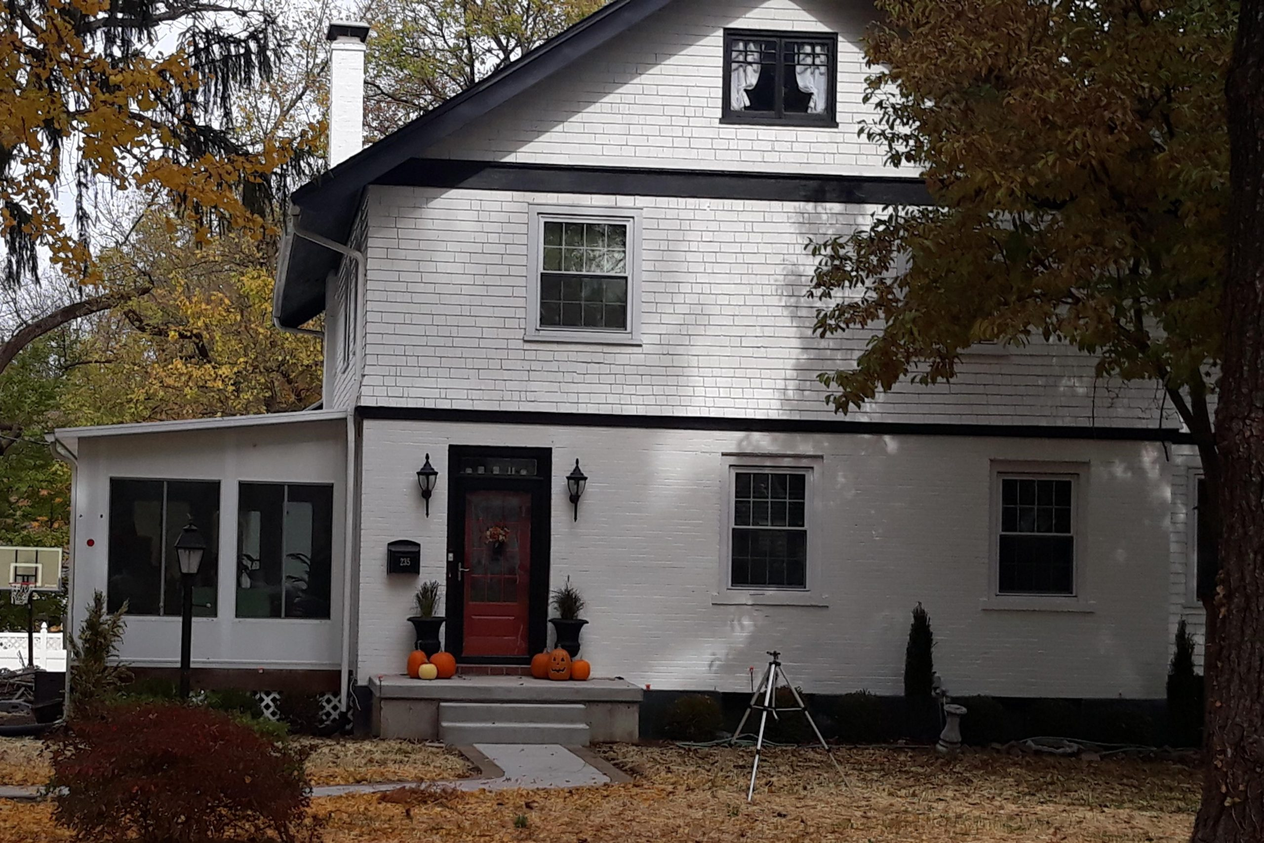 brick home after painting