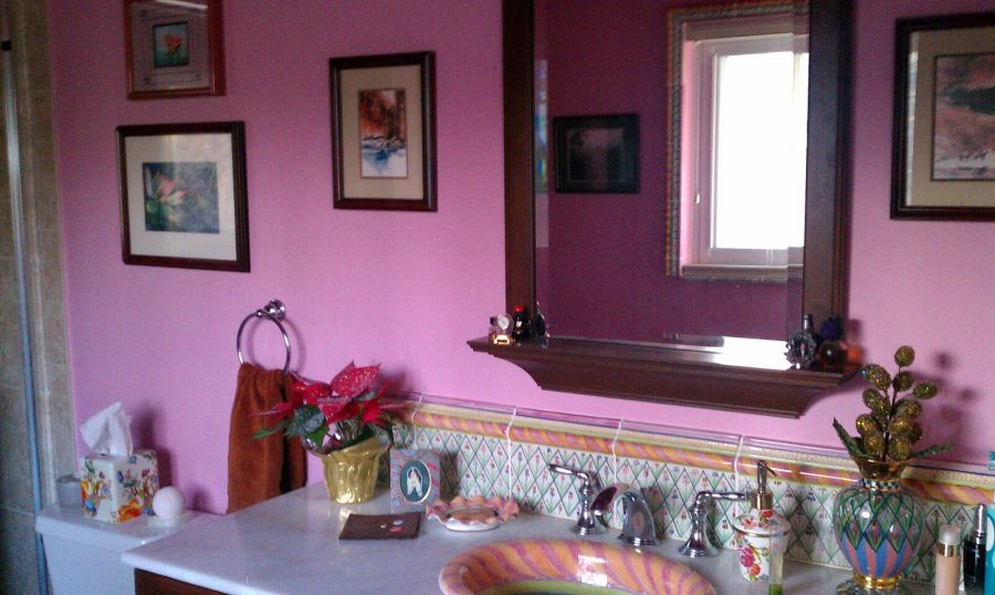 Interior master bathroom painting by CertaPro painters in Kirkwood, MO