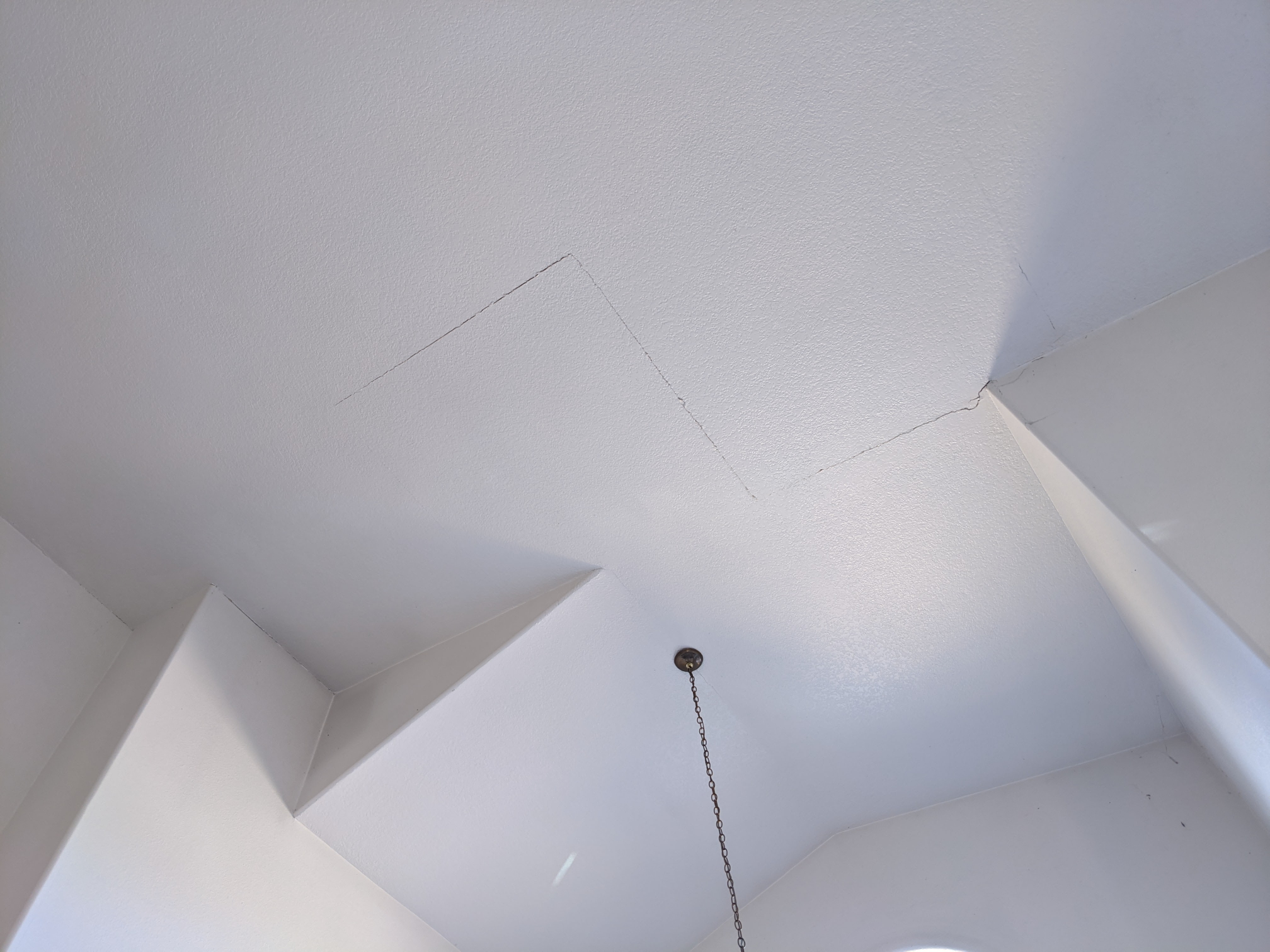 high ceiling before interior painting