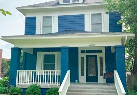Blue Exterior House Painting