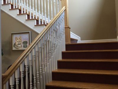 Professional Stair Case Banister Painting