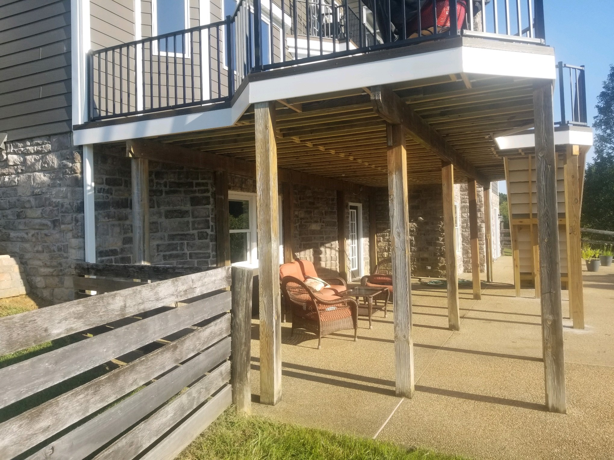 before deck painting