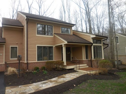 Exterior painting by CertaPro house painters in Reston, VA