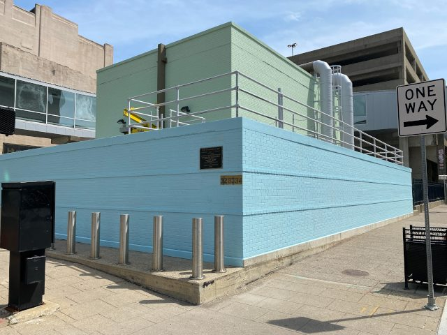 Repainted Pump Station After