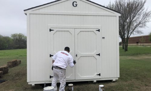Church Shed Painting Project