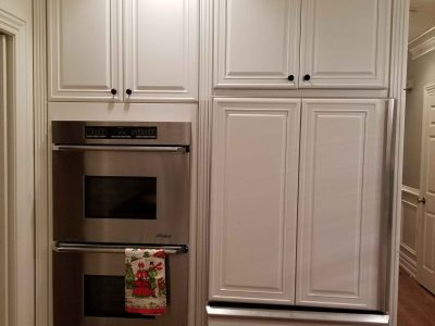 Interior kitchen cabinet painting by CertaPro Painters in Hopewell, NJ