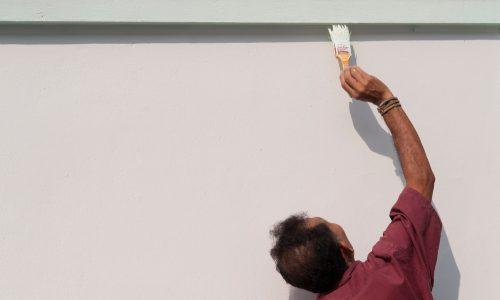Paint the stucco