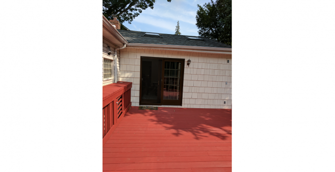 residential backyard deck painting merrick ny