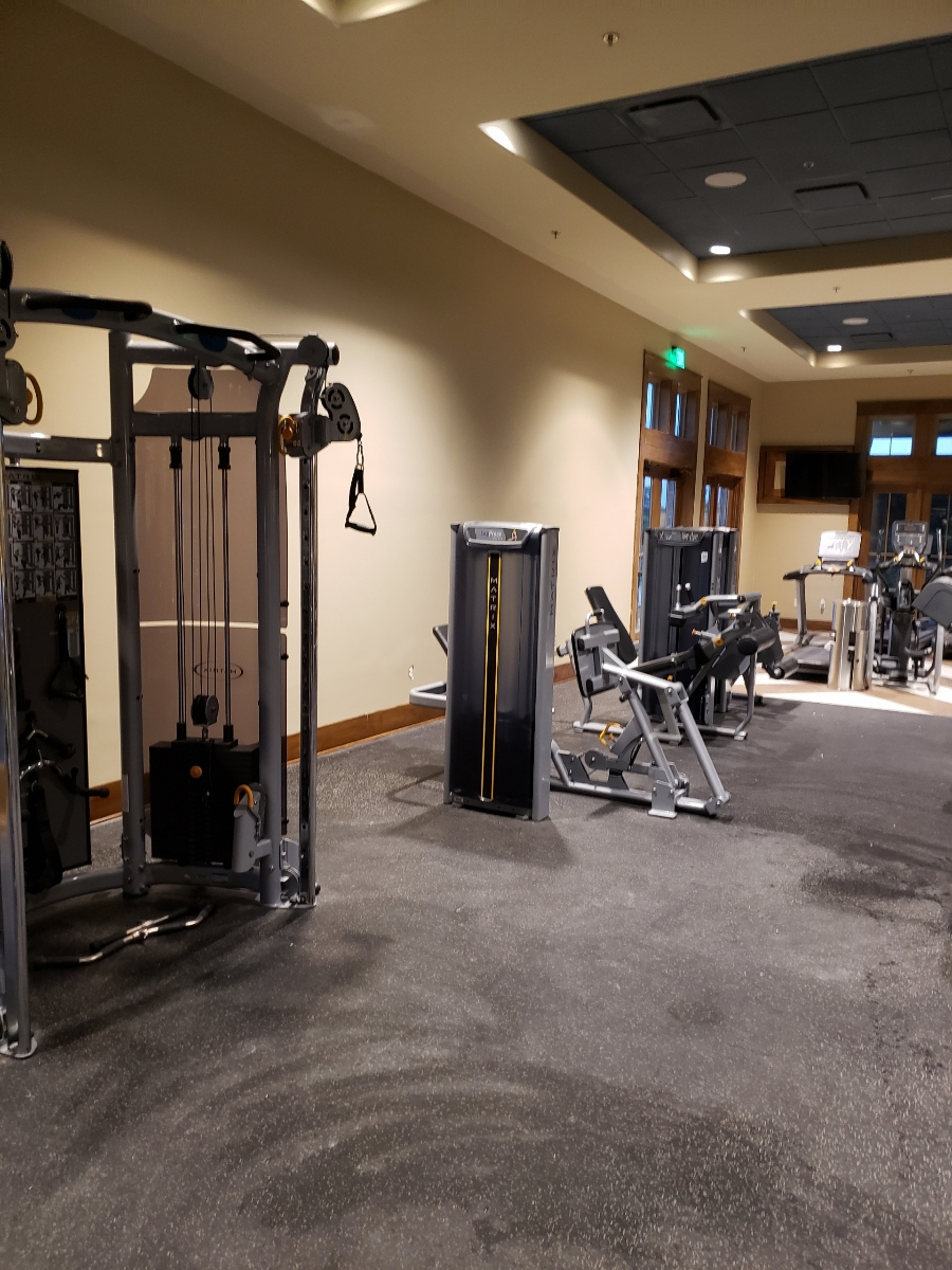 Sawmill Lake Club & Fitness Center after painting