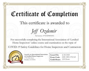 Jeff Ozdemir - COVID Safety Certificate of Completion