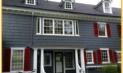 Bold colors and white trim are in!