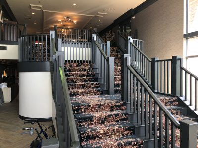 commercial painting stairs