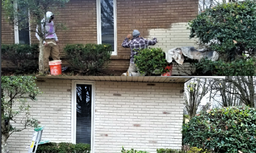 Before and After Brick Painting