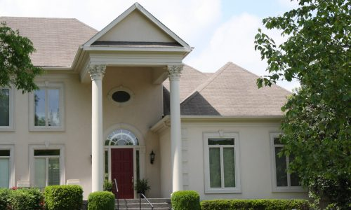 Stucco Repairs with Repaint