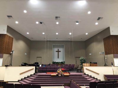 Church interior commercial painting