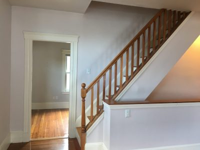 Residential Hallway painting project in west roxbury