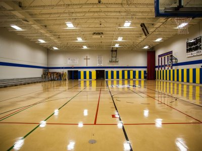 Commercial Painting Project - Basket Ball Court
