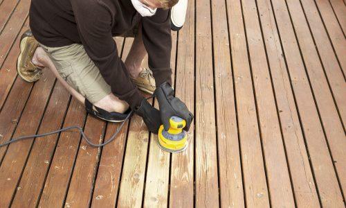 Deck sanding service