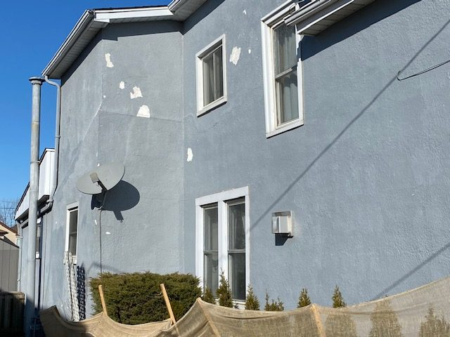 Stucco Repair and Painting Before