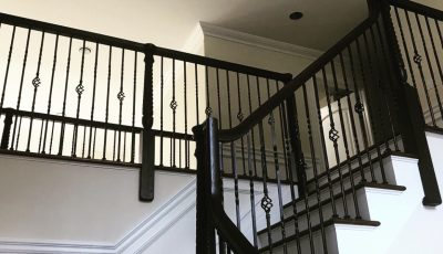 Interior stairway painting by CertaPro Painters of North Bergen County, NJ