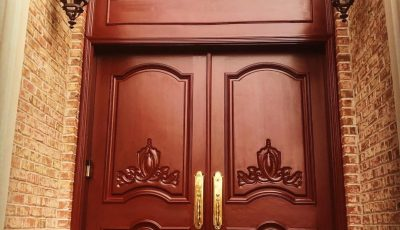 Stained doorway by by CertaPro Painters of North Bergen County, NJ