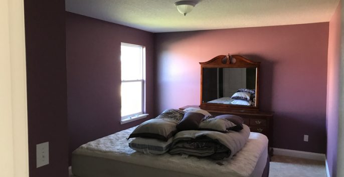 Interior bedroom painting by CertaPro painters in Jacksonville, FL
