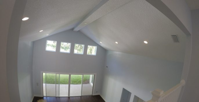 Interior living room painting by CertaPro house painters in Jacksonville, FL