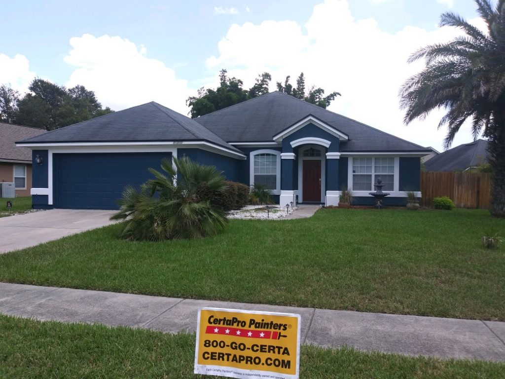 After photo of exterior house painting in North Jacksonville, FL