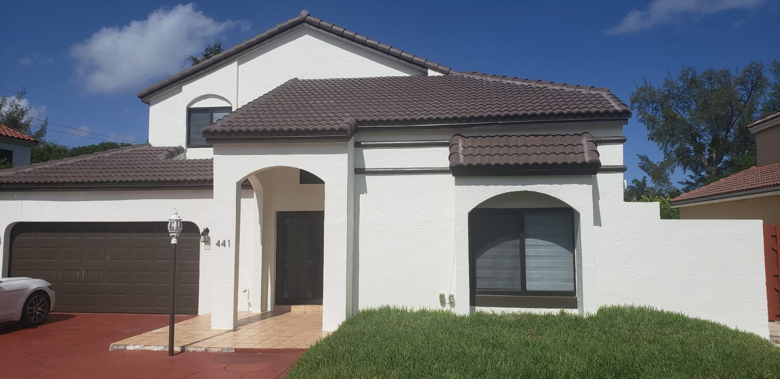 Front Exterior Doral-North Miami Home Makeover After