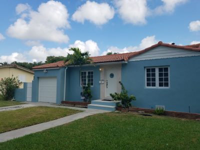 Exterior house painting by CertaPro painters in Miami Shores, FL