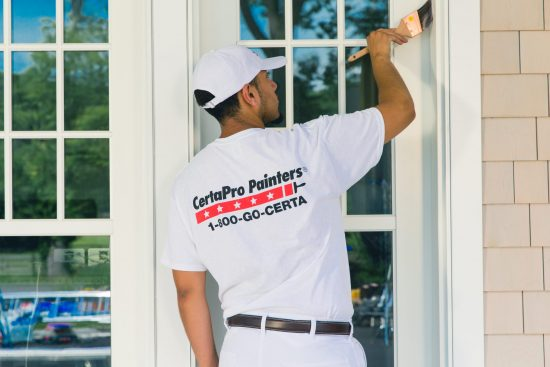 Exterior house painting services.