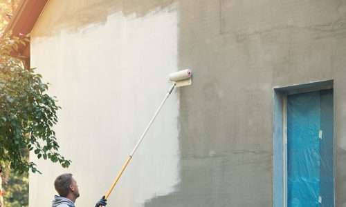 Roll paint cement