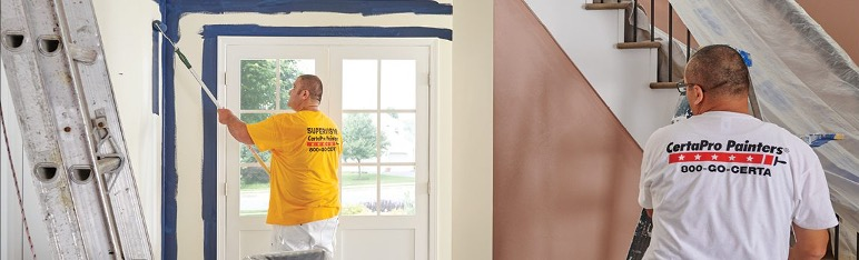 certapro painters of destin painting an entryway