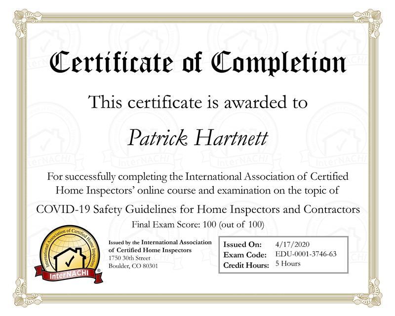 covid 19 training certificate norwalk, ct