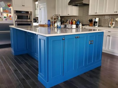 Painted Kitchen Island Cortlandt Manor, NY