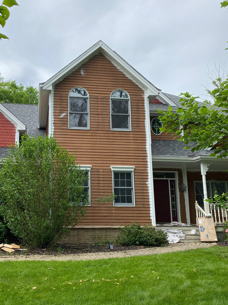 Residential Exterior Painting Before