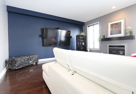 Interior family room painting by CertaPro house painters in Ottawa, ON