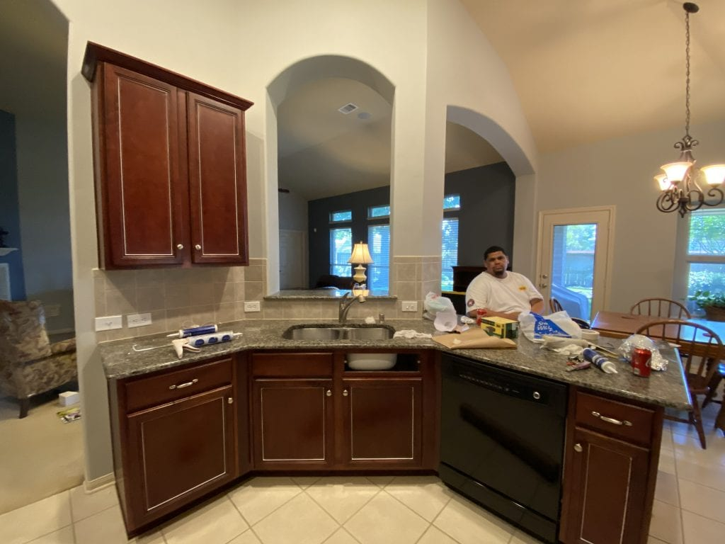 Pearland Cabinet Refinishing and Repainting Before