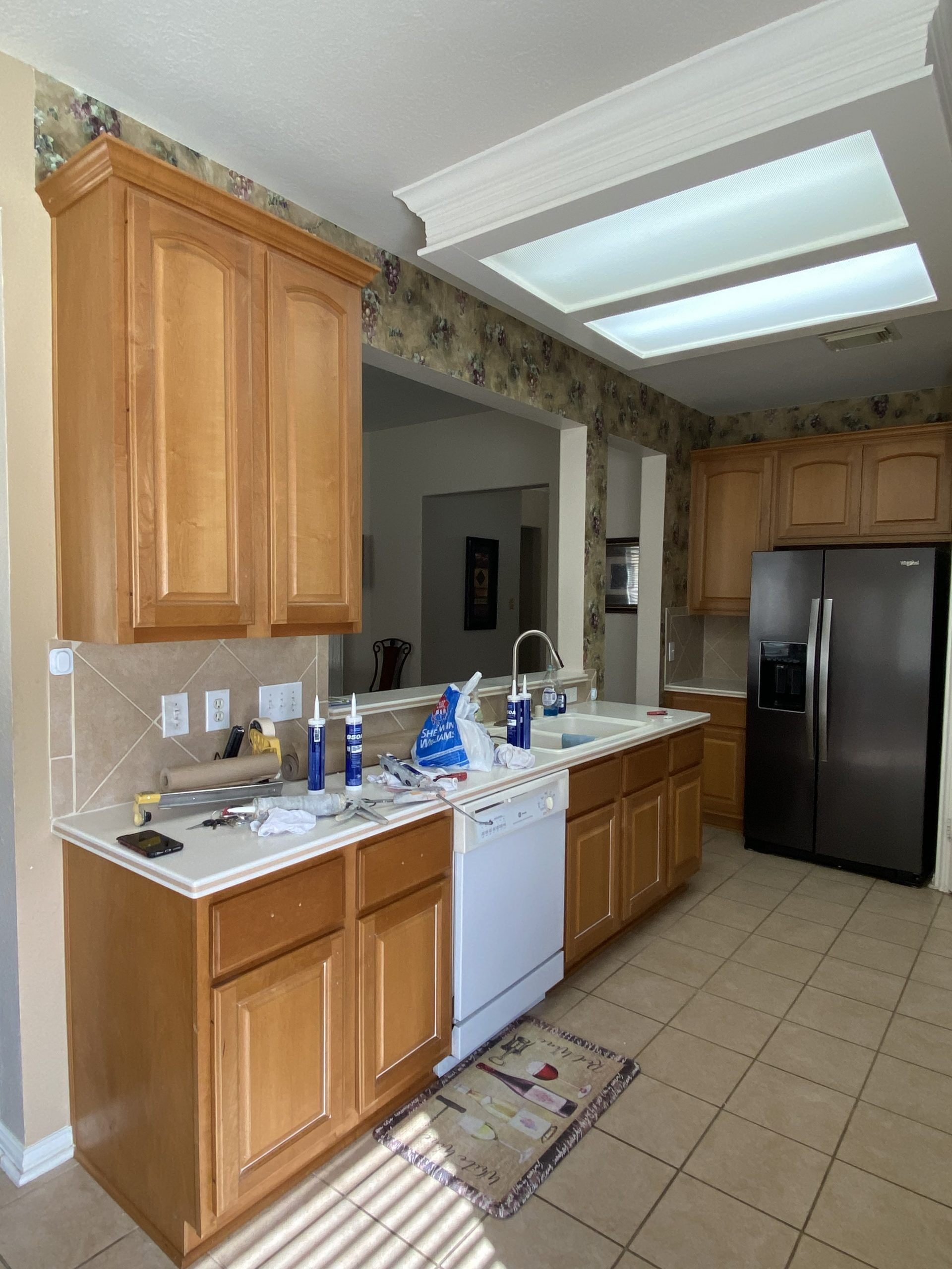 Kitchen Cabinet Repainting Before