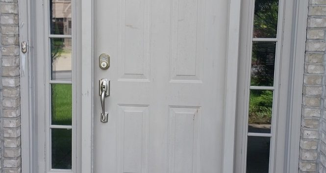 Front door painting, before picture