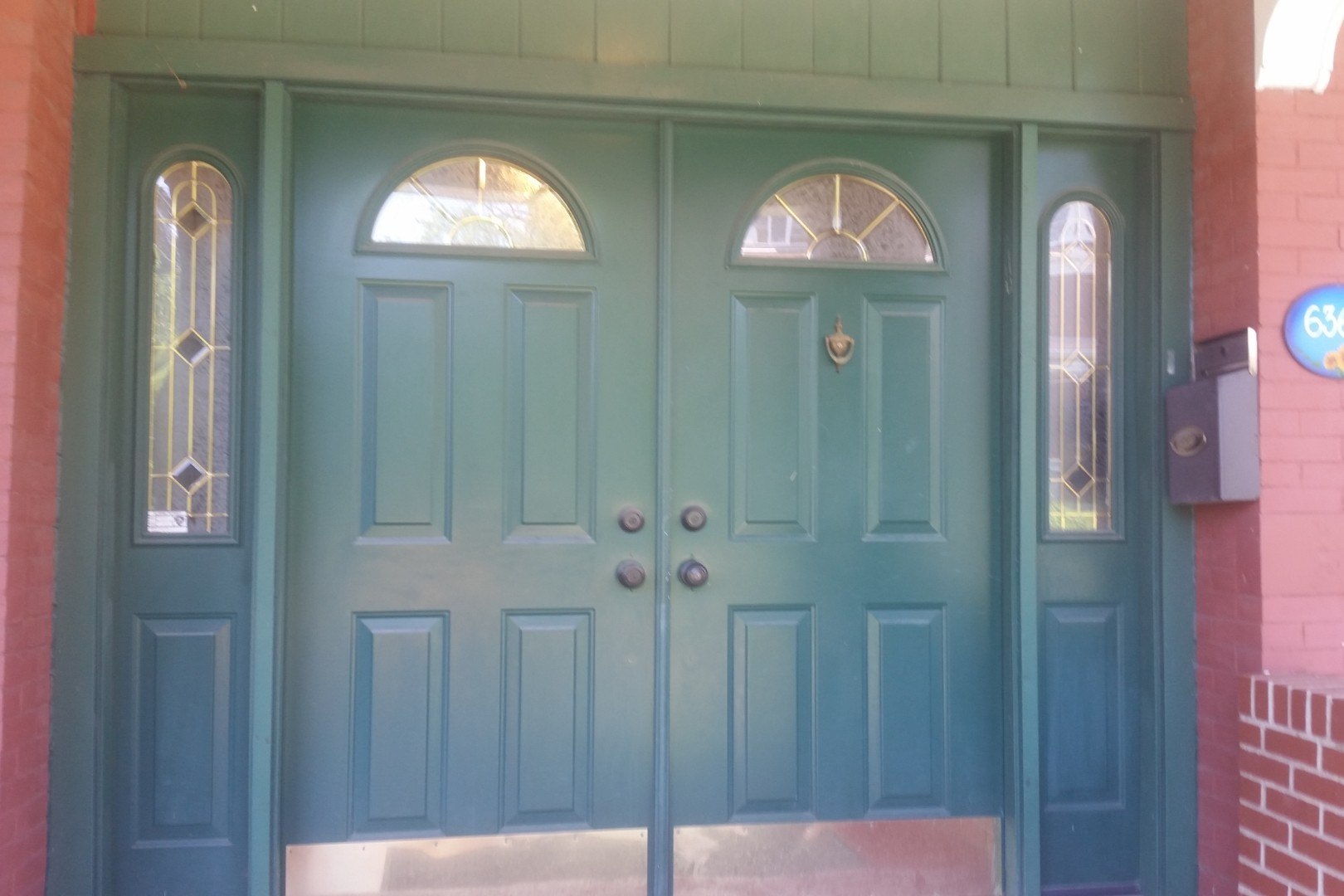 front door before painting
