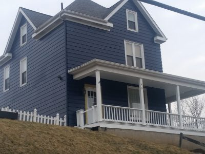 Slate Gray and White Exterior