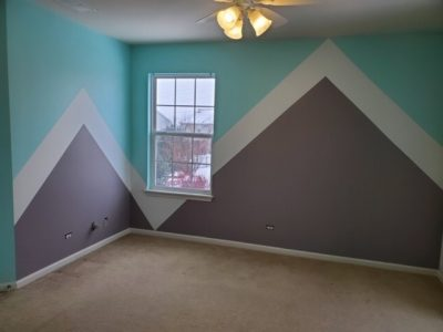 Finished picture of interior geometric design