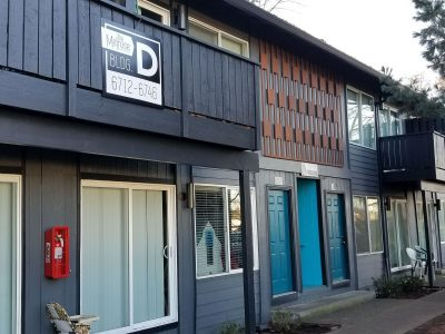 commercial exterior painting for business front