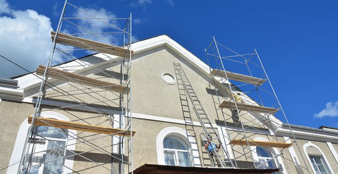 Stucco Repairs and Painting