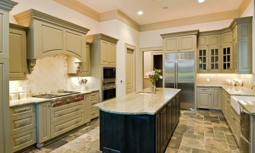Painted Luxury Kitchen Cabinets
